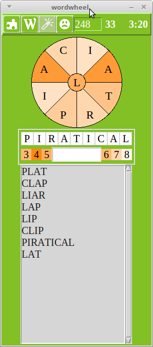 Wordwheel Example